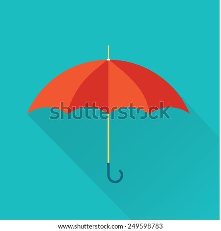 umbrella icon - stock vector