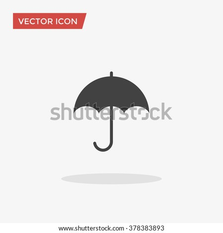 Umbrella Icon in trendy flat style isolated on grey background. Shelter symbol for your web site design, logo, app, UI. Vector illustration, EPS10. - stock vector