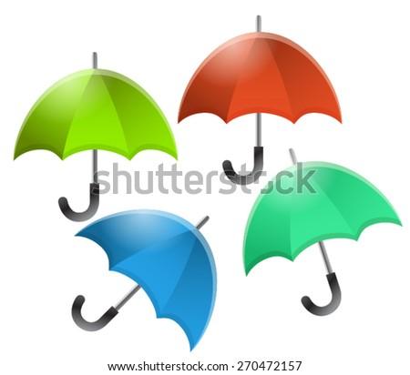 Umbrella icon water protection. Vector - stock vector