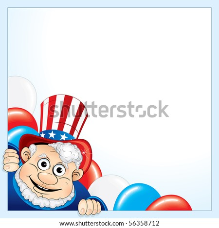 Uncle Sam background for your text - stock vector