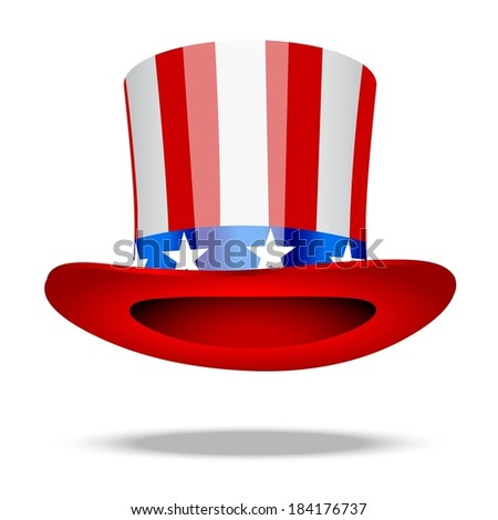 Uncle Sam hat  - stock vector