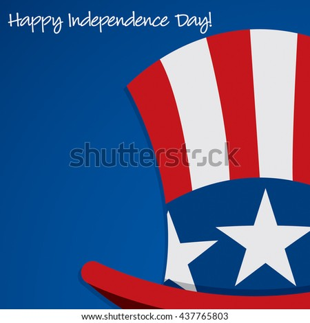 Uncle Sam hat Independence Day card in vector format. - stock vector