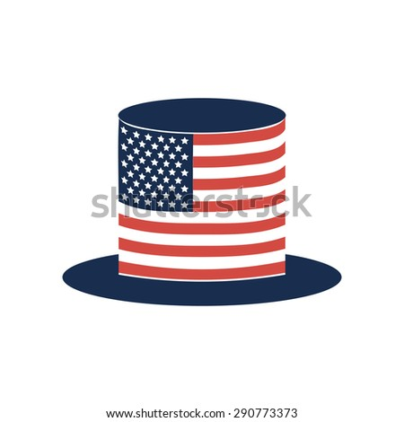 Uncle Sam's hat vector. 4 of July celebration icon - stock vector