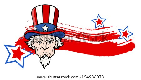 uncle sam - 4th of July Vector theme Design - stock vector