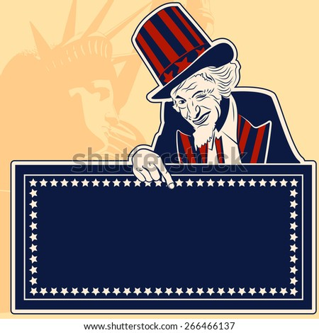 Uncle Sam vector pic - stock vector