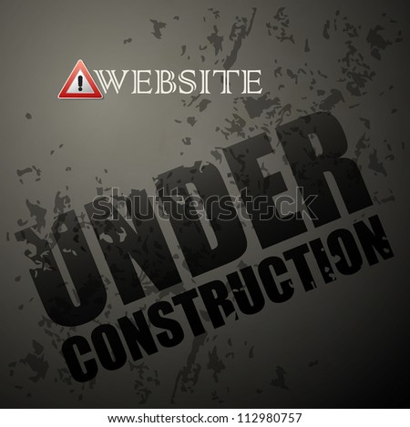 Under construction abstract vector illustration - stock vector