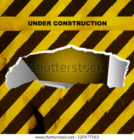 under construction background. vector design - stock vector