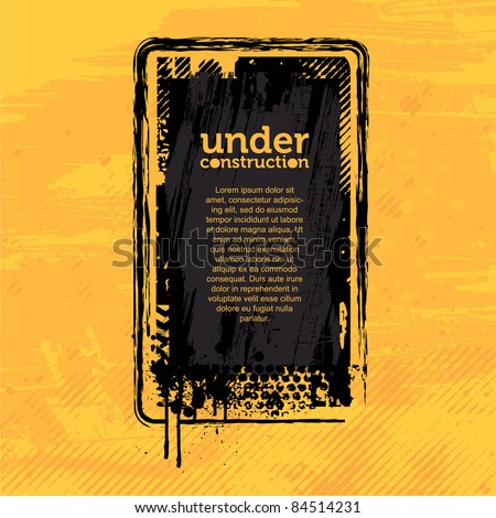 Under Construction Banner - stock vector