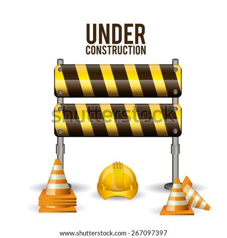 Under Construction design over white background, vector illustration - stock vector