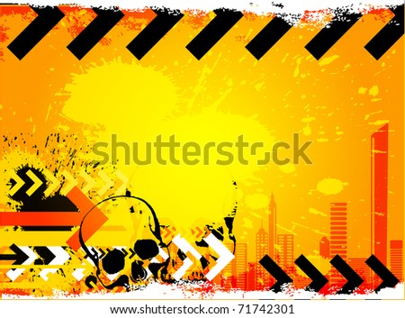 Under construction. Industrial vector background - stock vector
