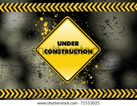 under construction - industrial vector poster - stock vector