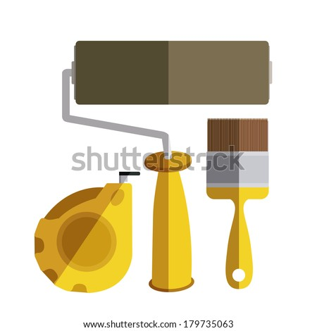 under construction over white background vector illustration   - stock vector