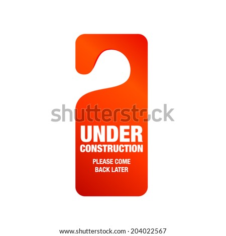 Under construction sign - stock vector