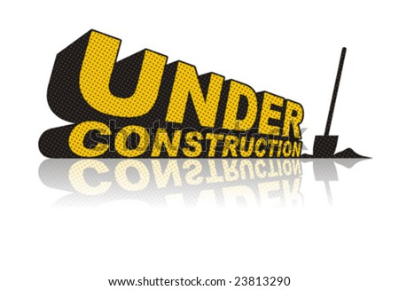 Under Construction Stylized Sign - stock vector