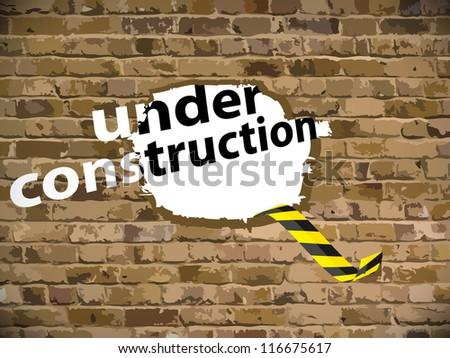 Under construction vector illustration - stock vector