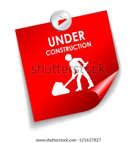Under construction vector sticker - stock vector