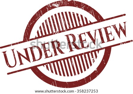 Under Review rubber stamp - stock vector