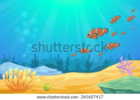 under the sea background vector - stock vector