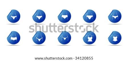 underwear web icons - stock vector