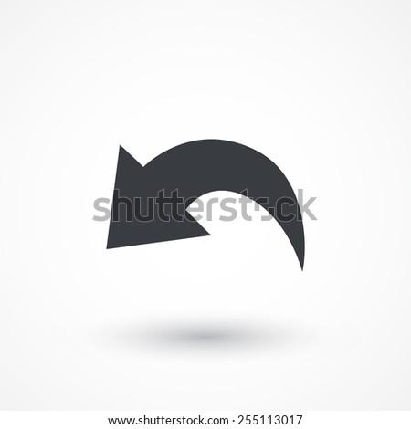 Undo Icon - stock vector