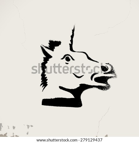 Unicorn - stock vector
