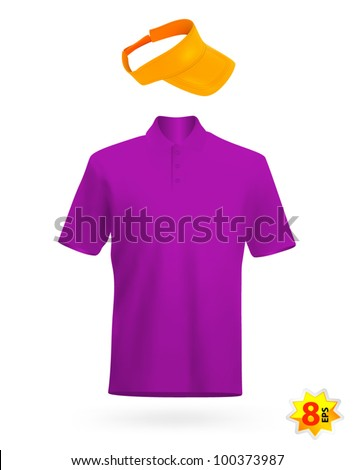 Uniform template: t-shirt and visor. - stock vector