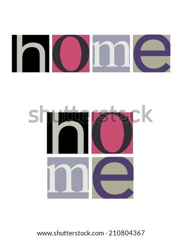 Unique and Abstract Vector 'Home' logos - stock vector