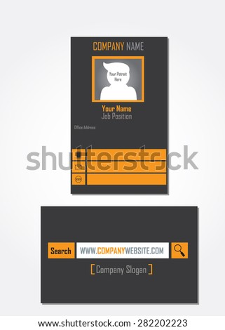 Unique Business Card Template - stock vector