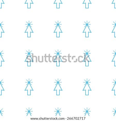 Unique Click white and blue seamless pattern for web design. Vector symbol - stock vector
