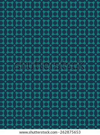 Unique green pattern on top of blue background - stock vector