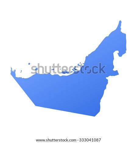 United Arab Emirates,UAE country map,border - stock vector