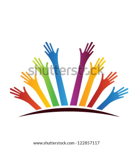 United Hands - stock vector