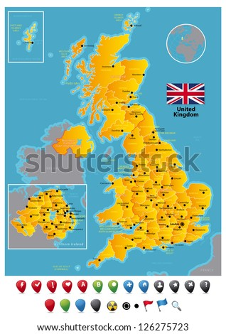 United Kingdom - stock vector