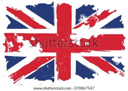 United Kingdom, grunge flag, Illustration - stock vector
