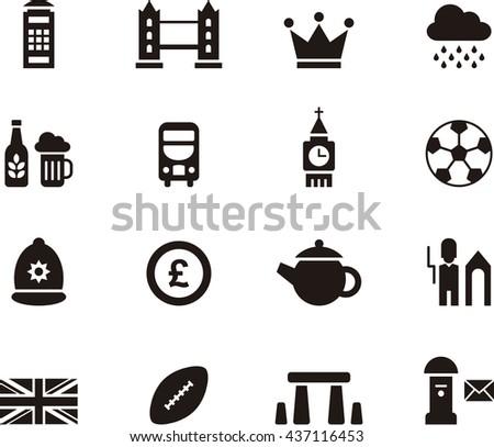 UNITED KINGDOM icons - stock vector