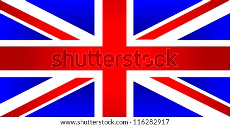 United Kingdom of Great Britain flag - vector - stock vector