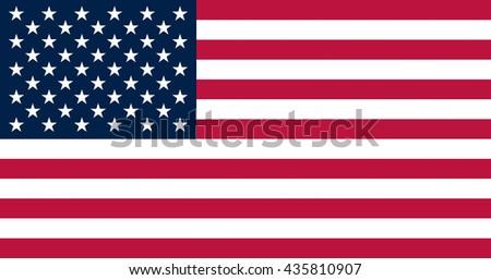 United State of America Flag. Vector illustration. - stock vector