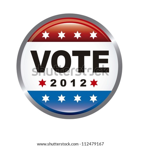 united states election vote isolated over white background. vector - stock vector
