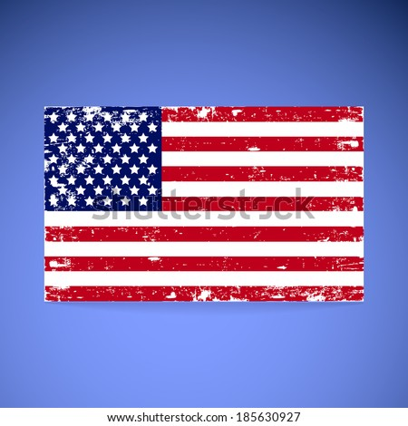 United States Flag - stock vector