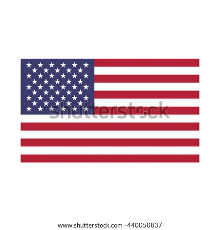 United States flag. American flag vector illustration - stock vector