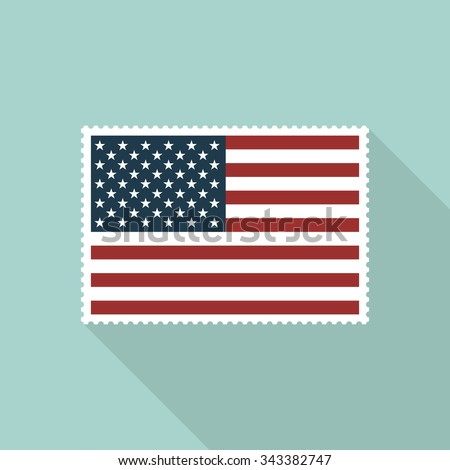 United States flag postage stamp - Vector - stock vector