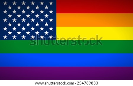 United States Gay flag. Vector illustration. - stock vector