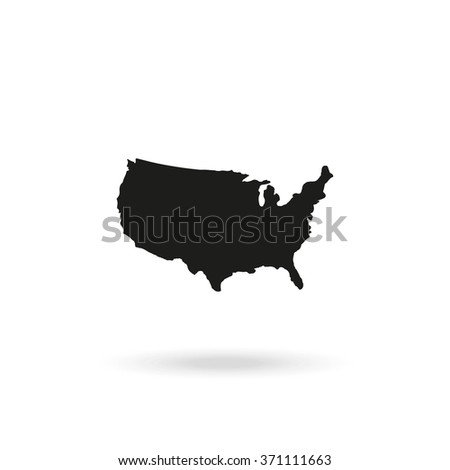 United States map. United States map icon, United States map icon eps10, United States map icon vector, United States map icon jpg, United States map flat icon, United States map icon app. - stock vector