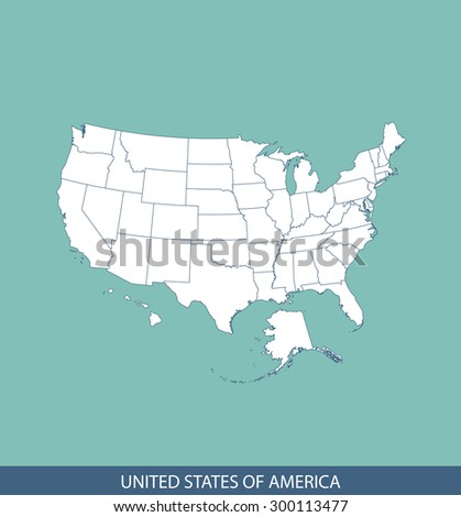 United States map vector, USA map outlines for science, brochure, tourist map, and other publication uses - stock vector