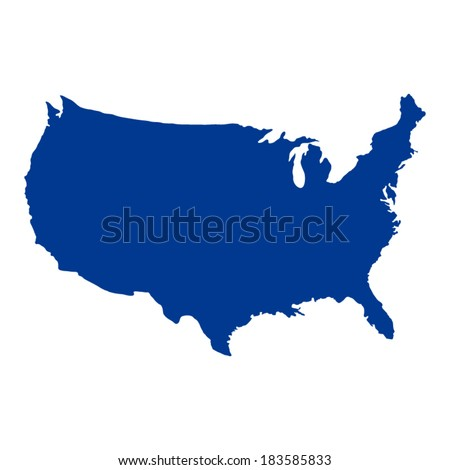 United States of America Map  - stock vector