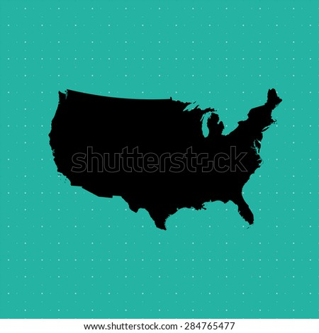 United States of America map, USA map , vector map, United States  - stock vector