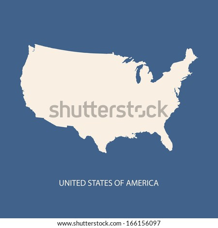 UNITED STATES OF AMERICA MAP VECTOR, USA MAP VECTOR - stock vector