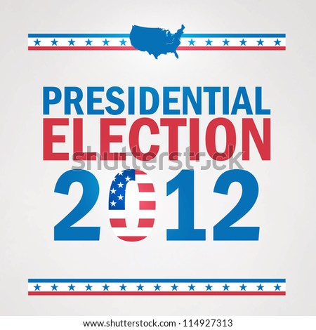United States Presidential Election in 2012. - stock vector