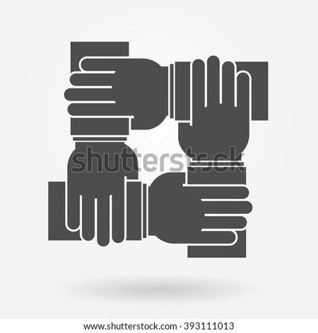 Unity and teamwork icon concept - stock vector