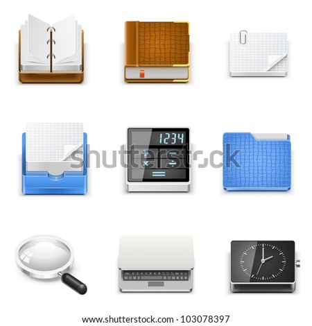 universal document office vector icons - stock vector